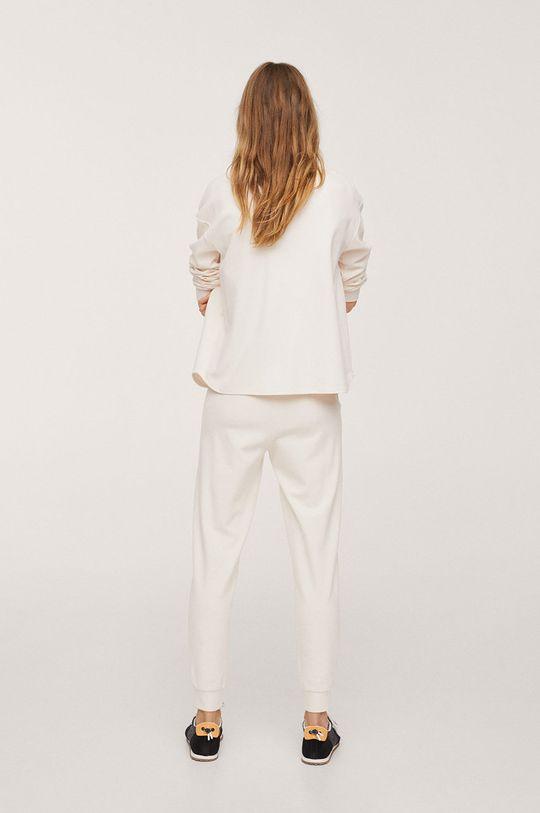Mango - Spodnie Pique1 biały