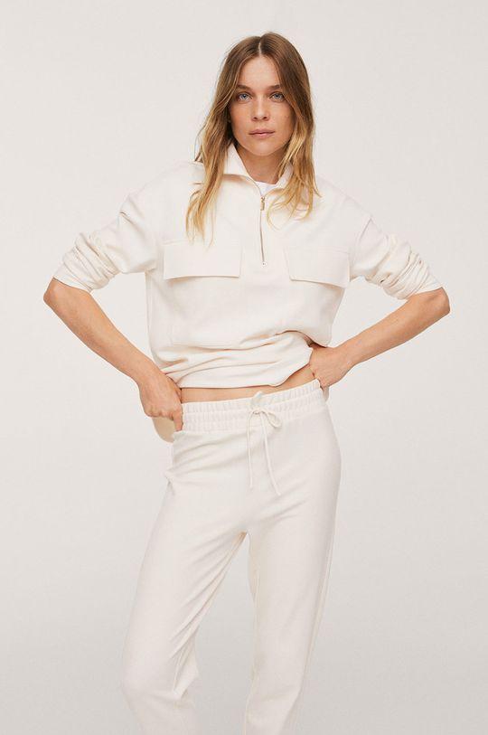 biały Mango - Spodnie Pique1