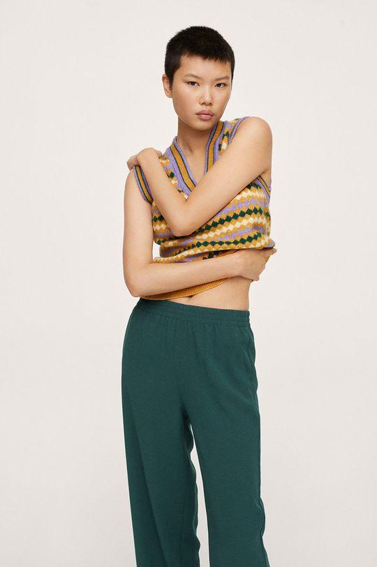 zelená Mango - Kalhoty Rubber