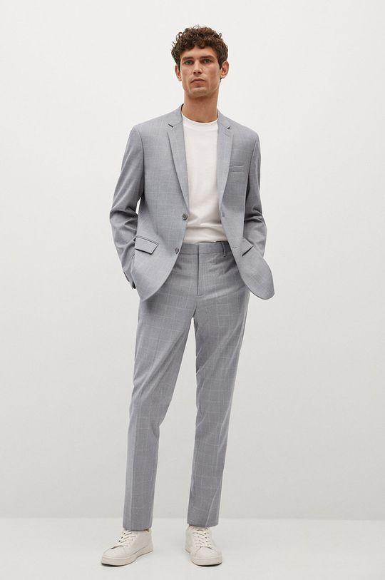 Mango Man - Kalhoty PAULO světle šedá