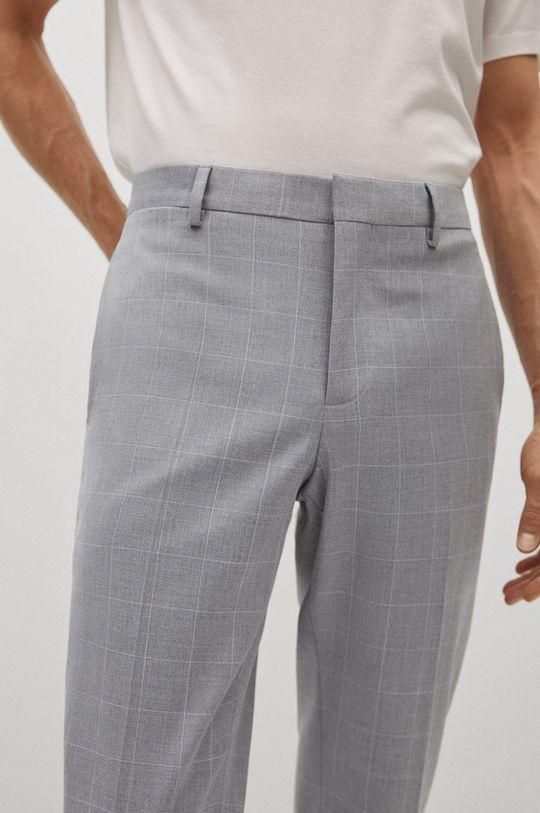 světle šedá Mango Man - Kalhoty PAULO