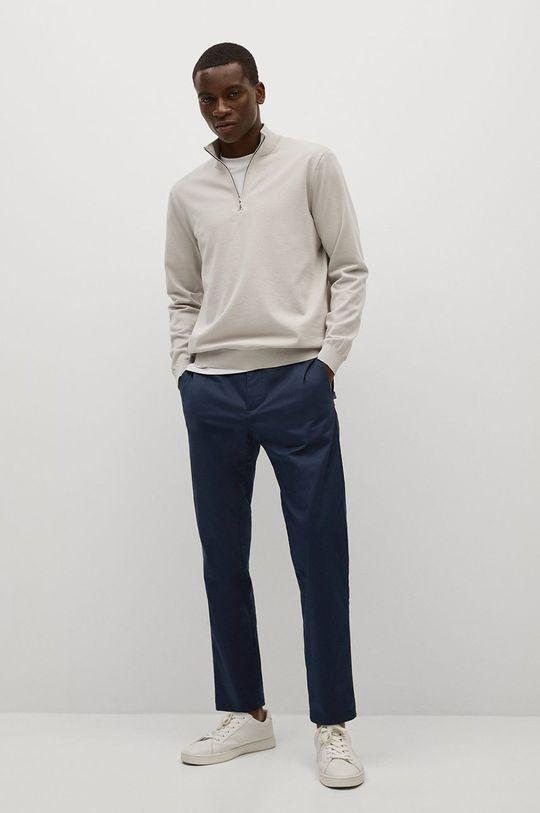 Mango Man - Kalhoty Dublin námořnická modř