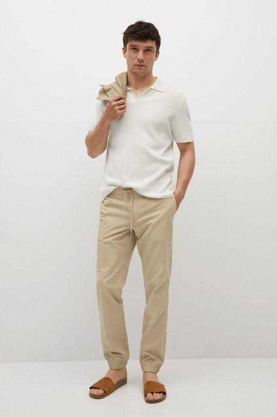 Mango Man - Spodnie Roma cielisty