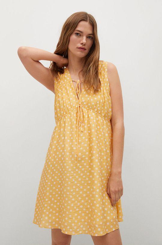 žlutá Mango - Šaty MINA Dámský