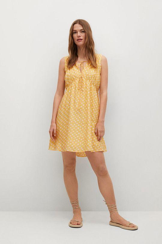 Mango - Šaty MINA žlutá