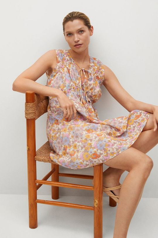 Mango - Šaty MINA růžová