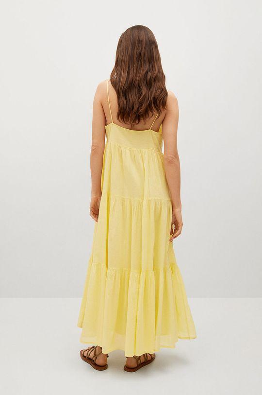 Mango - Sukienka COTTON żółty