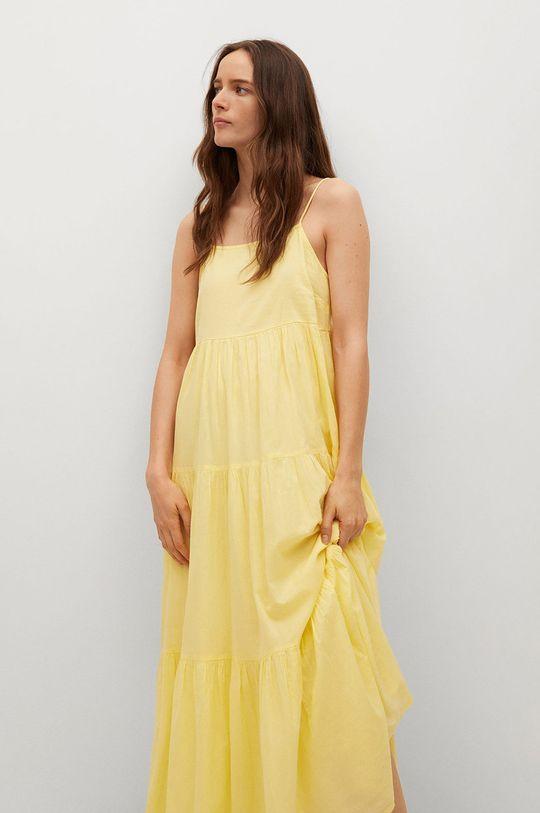 Mango - Sukienka COTTON 100 % Bawełna