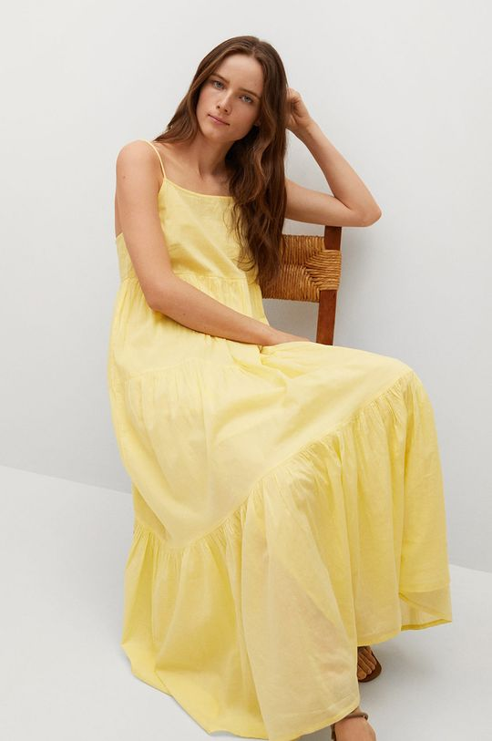 żółty Mango - Sukienka COTTON