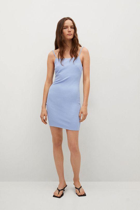 Mango - Sukienka NUVERTU1 blady niebieski