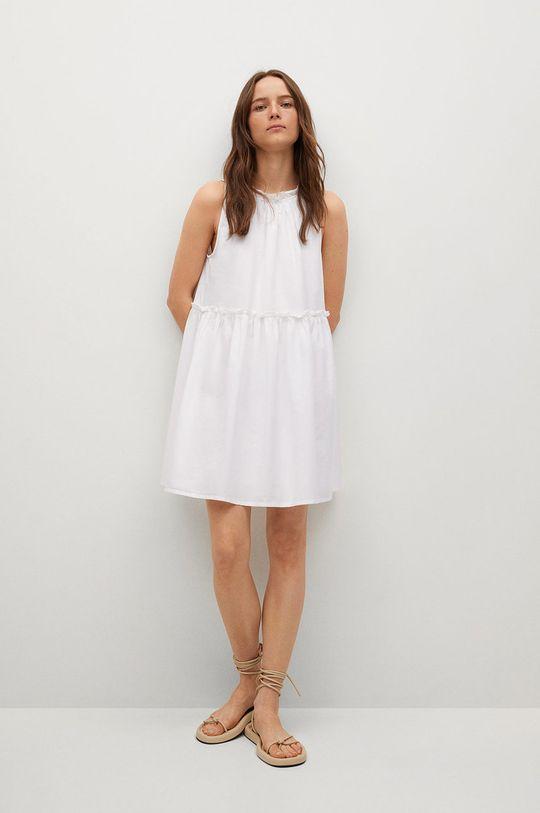 Mango - Šaty MIKONOS bílá