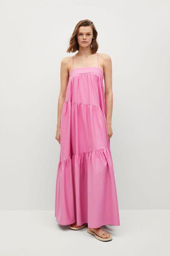 Mango - Šaty PARACHUT růžová