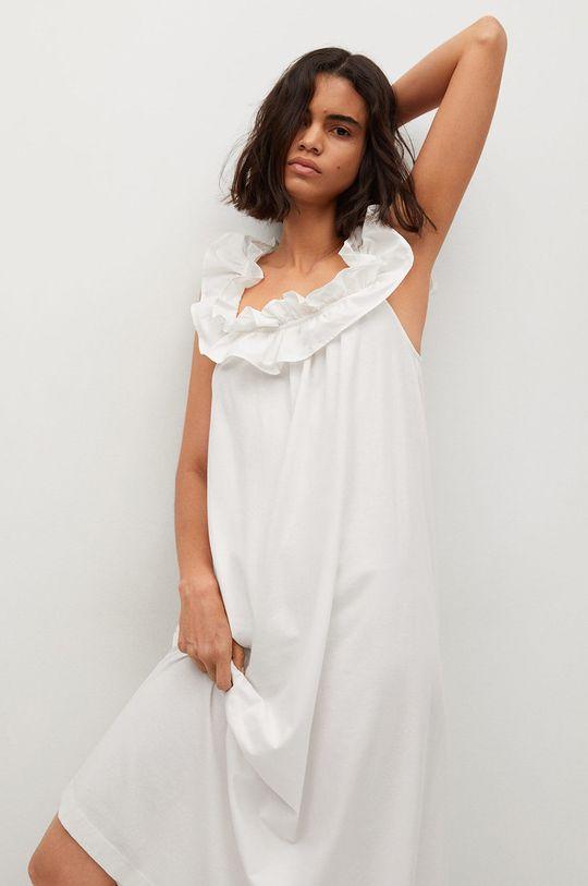 biela Mango - Bavlnené šaty Margot
