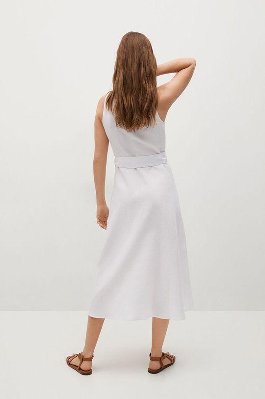 Mango - Sukienka lniana Iri 45 % Bawełna, 55 % Len
