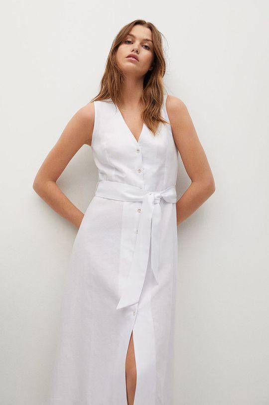 biały Mango - Sukienka lniana Iri