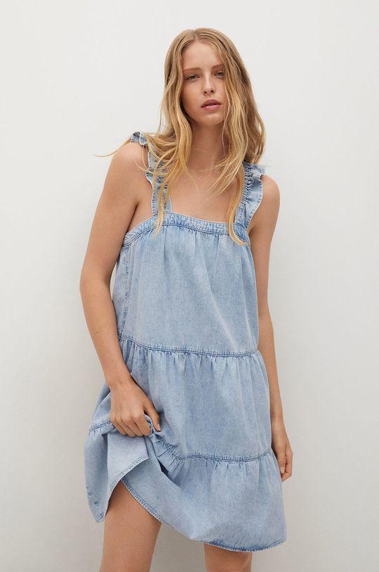 niebieski Mango - Sukienka bawełniana SIBILA Damski