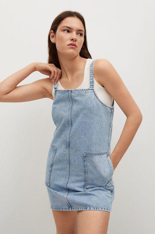 niebieski Mango - Sukienka jeansowa LEXIA Damski
