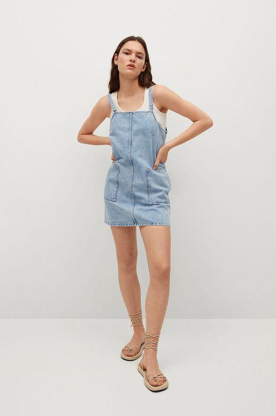 Mango - Sukienka jeansowa LEXIA niebieski