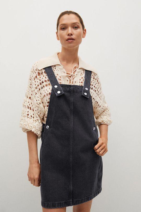 szary Mango - Sukienka jeansowa India Damski