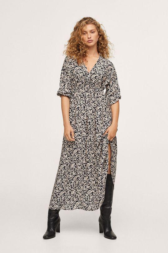 czarny Mango - Sukienka Tangerin Damski