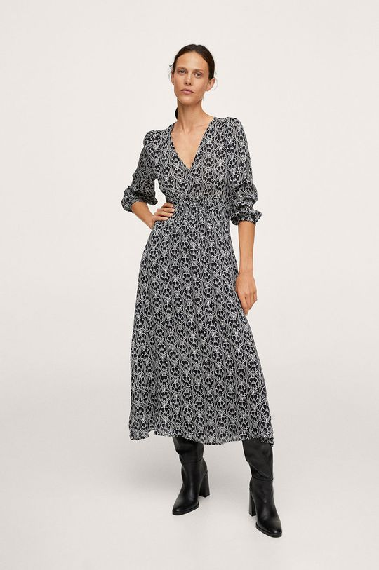czarny Mango - Sukienka JAPAN Damski