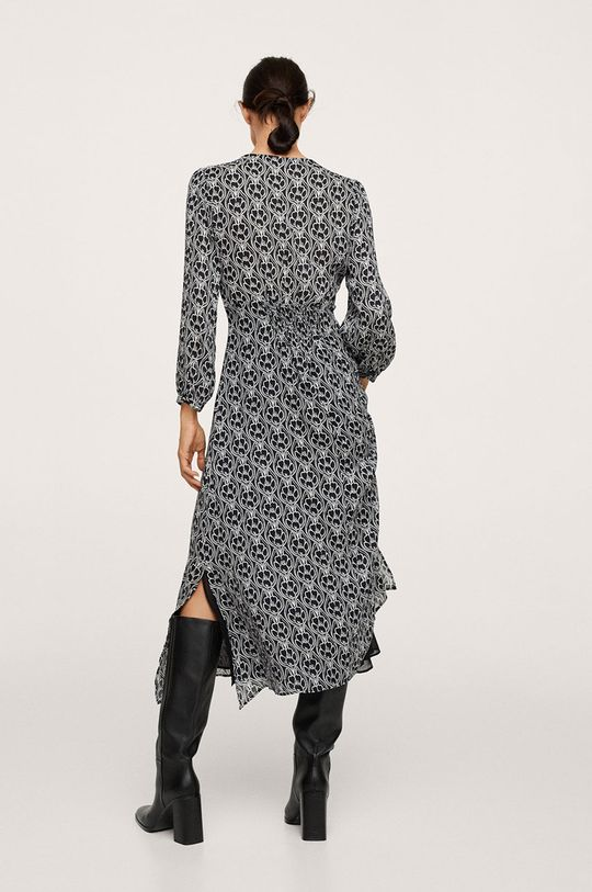 Mango - Sukienka JAPAN czarny