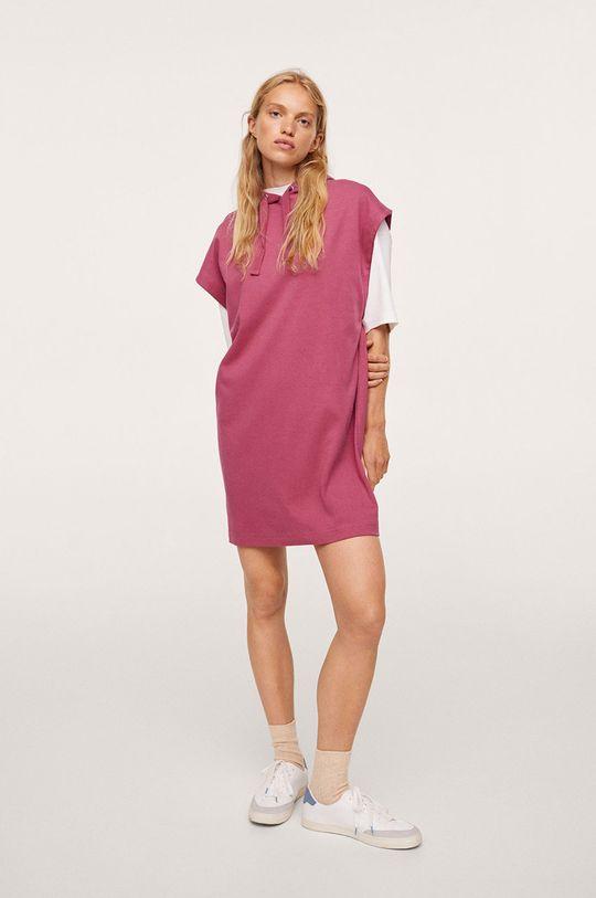 Mango - Šaty Splong červená