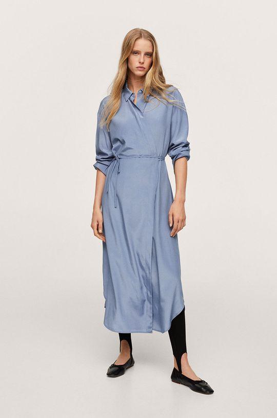 modrá Mango - Šaty Rain Dámský
