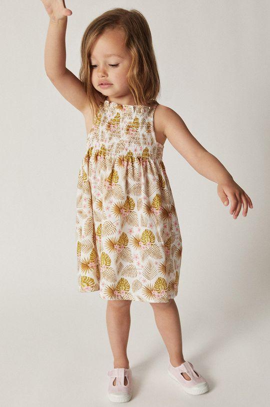 żółty Mango Kids - Sukienka dziecięca JULES Dziewczęcy