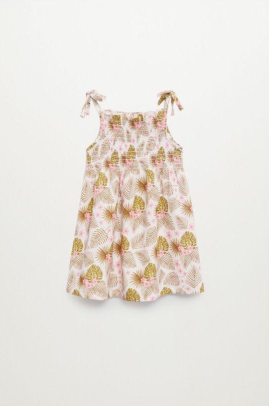 Mango Kids - Sukienka dziecięca JULES 100 % Bawełna