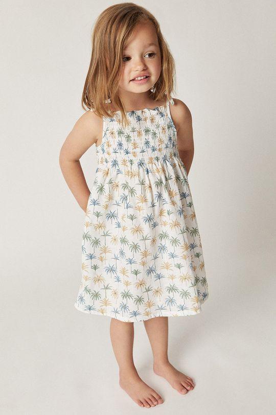 modrá Mango Kids - Dívčí šaty JULES Dívčí