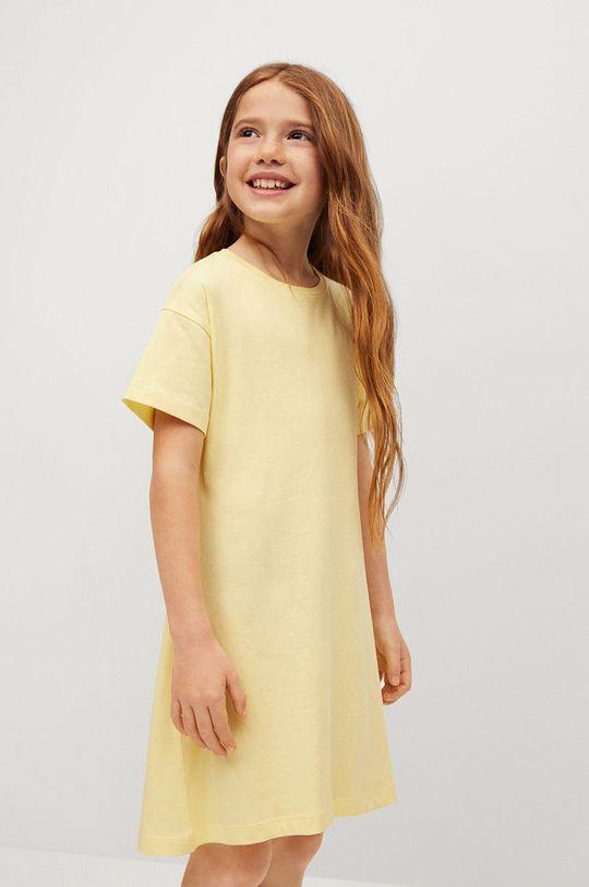 żółty Mango Kids - Sukienka dziecięca RIVER Dziewczęcy