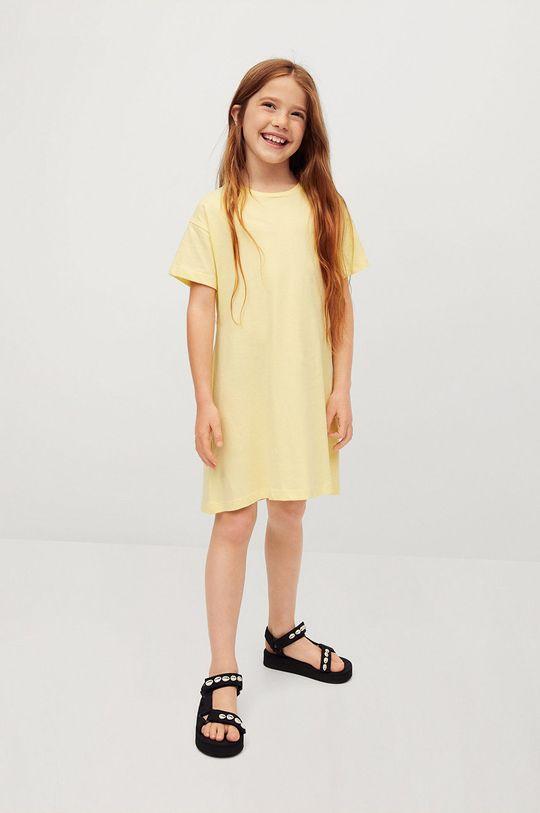 Mango Kids - Sukienka dziecięca RIVER żółty
