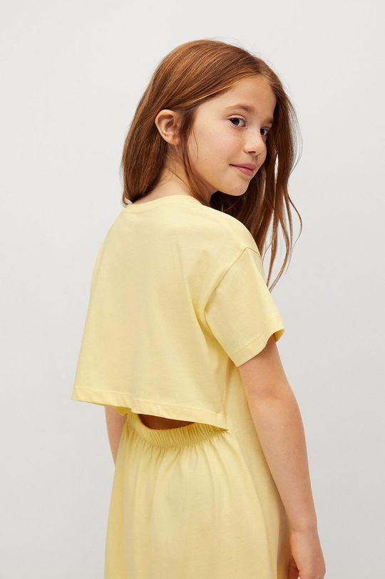 Mango Kids - Sukienka dziecięca RIVER 100 % Bawełna