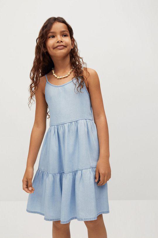 fioletowy Mango Kids - Sukienka dziecięca HAWAI Dziewczęcy