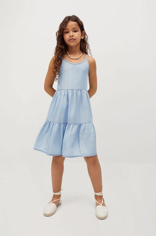 Mango Kids - Sukienka dziecięca HAWAI fioletowy