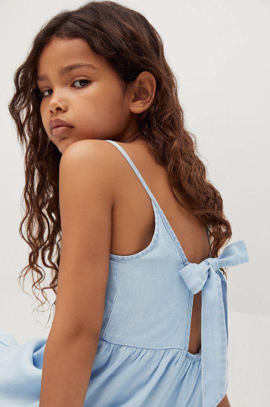 Mango Kids - Sukienka dziecięca HAWAI 100 % Lyocell