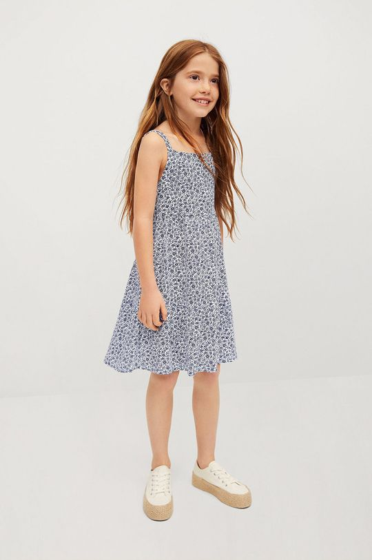 Mango Kids - Dívčí šaty CAMERUN námořnická modř