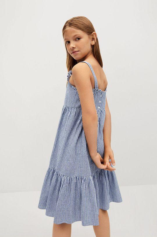 Mango Kids - Dětské bavlněné šaty Finja 110-164 cm  100% Bavlna