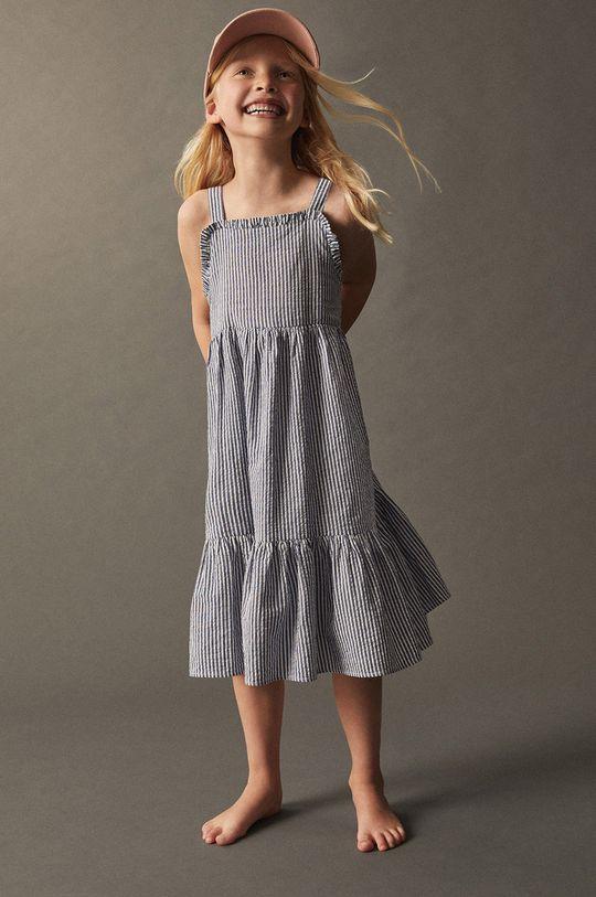 Mango Kids - Dětské bavlněné šaty Finja 110-164 cm Dívčí