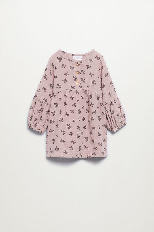 różowy Mango Kids - Sukienka dziecięca Emily Dziewczęcy