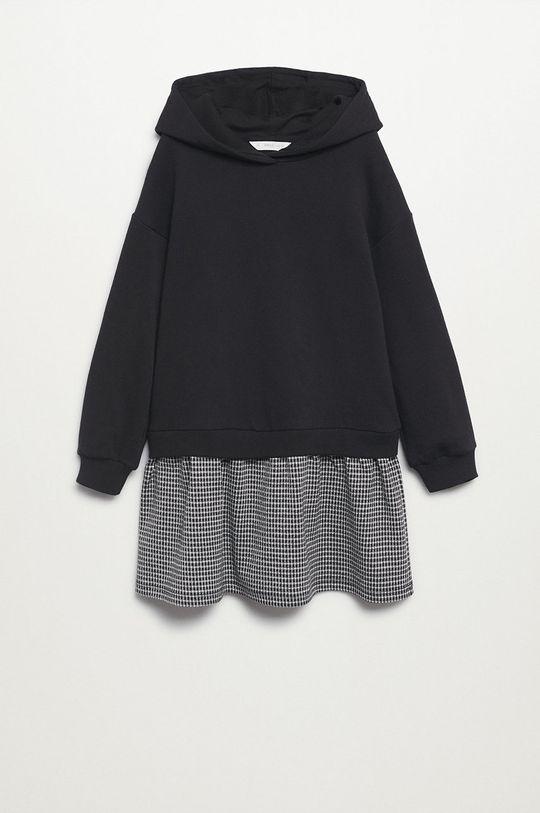 čierna Mango Kids - Dievčenské šaty Estela Dievčenský