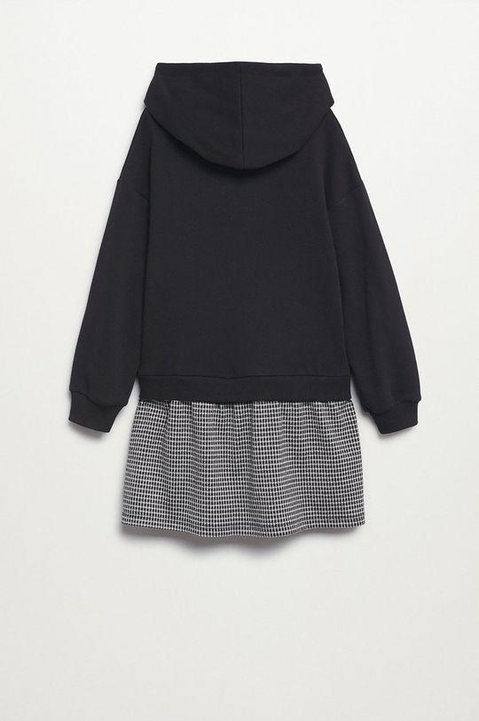 Mango Kids - Dievčenské šaty Estela čierna