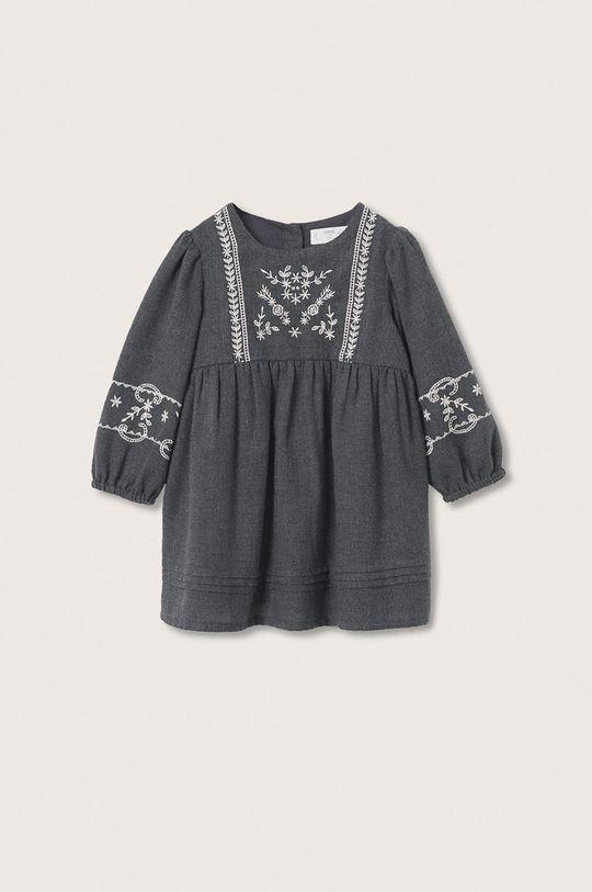 šedá Mango Kids - Dívčí šaty Selena Dívčí