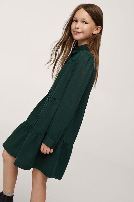 Mango Kids - Dívčí šaty Sunday zelená