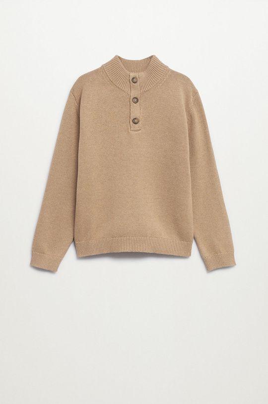 brązowy Mango Kids - Sweter Harry Chłopięcy