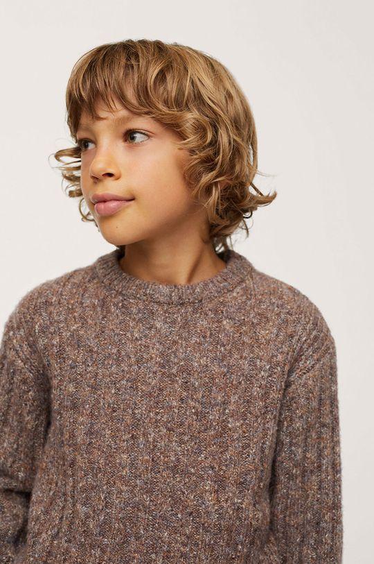 Mango Kids - Sweter dziecięcy Chelsea 18 % Bawełna, 35 % Akryl, 1 % Elastan, 16 % Poliester, 30 % Poliester z recyklingu