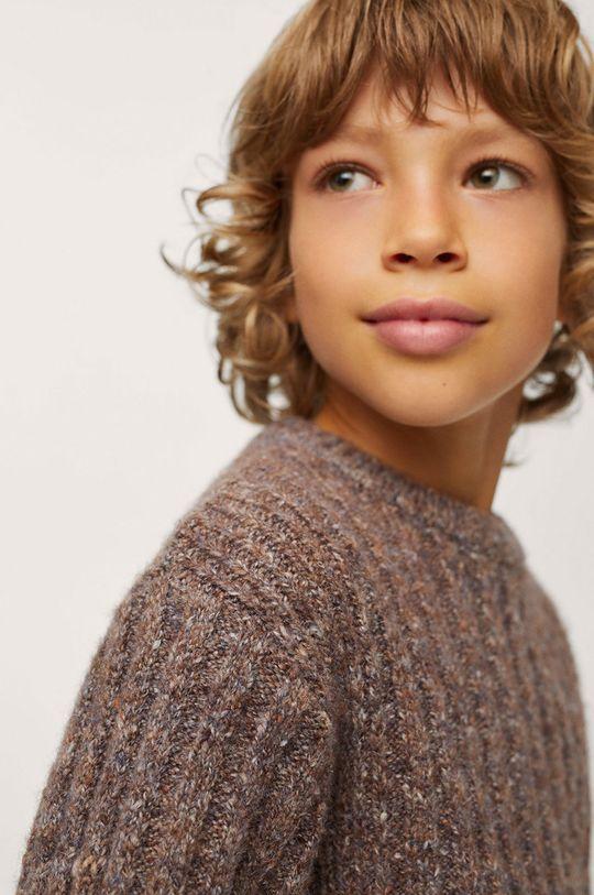 brązowy Mango Kids - Sweter dziecięcy Chelsea