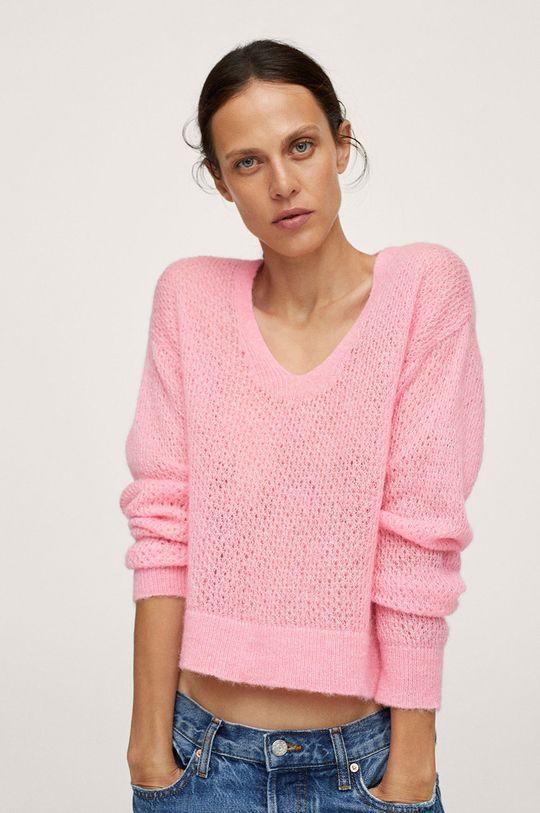 różowy Mango - Sweter GERY Damski