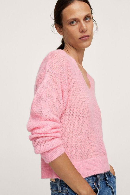 różowy Mango - Sweter GERY